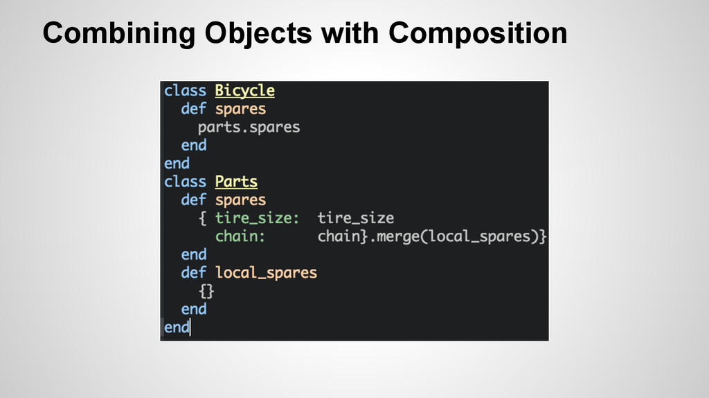 Combining Objects with Composition