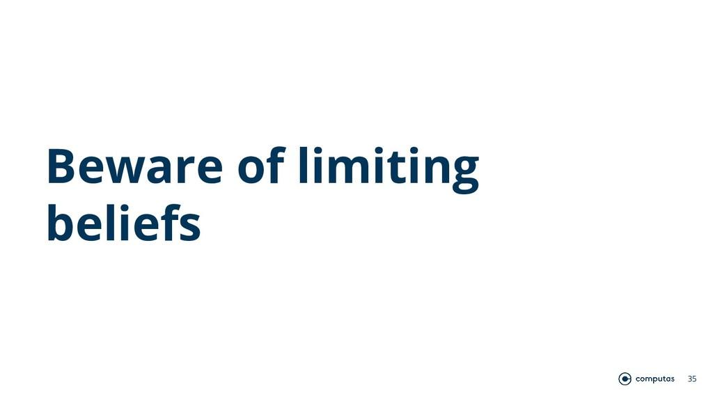 Beware of limiting beliefs 35