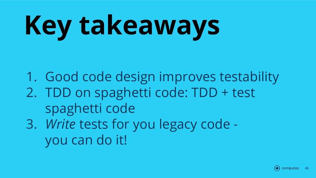 Key takeaways 46 1. Good code design improves t...