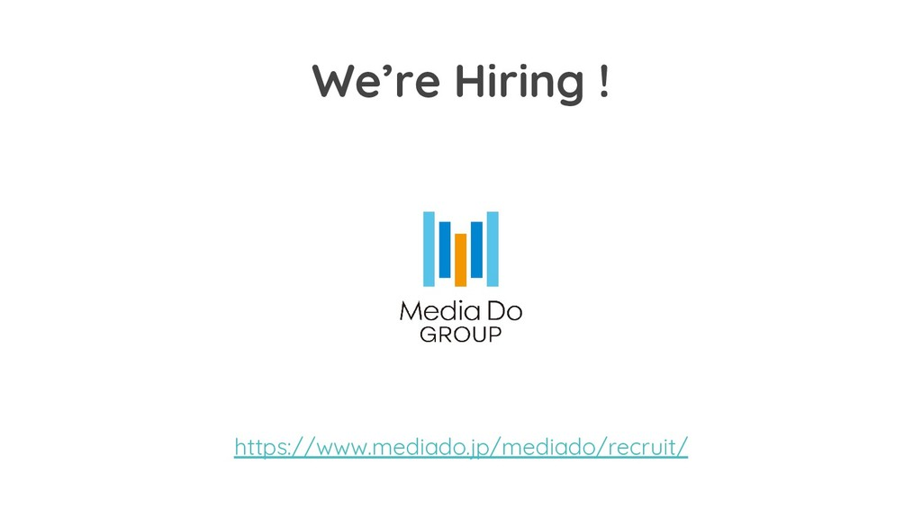 We're Hiring ! https://www.mediado.jp/mediado/r...
