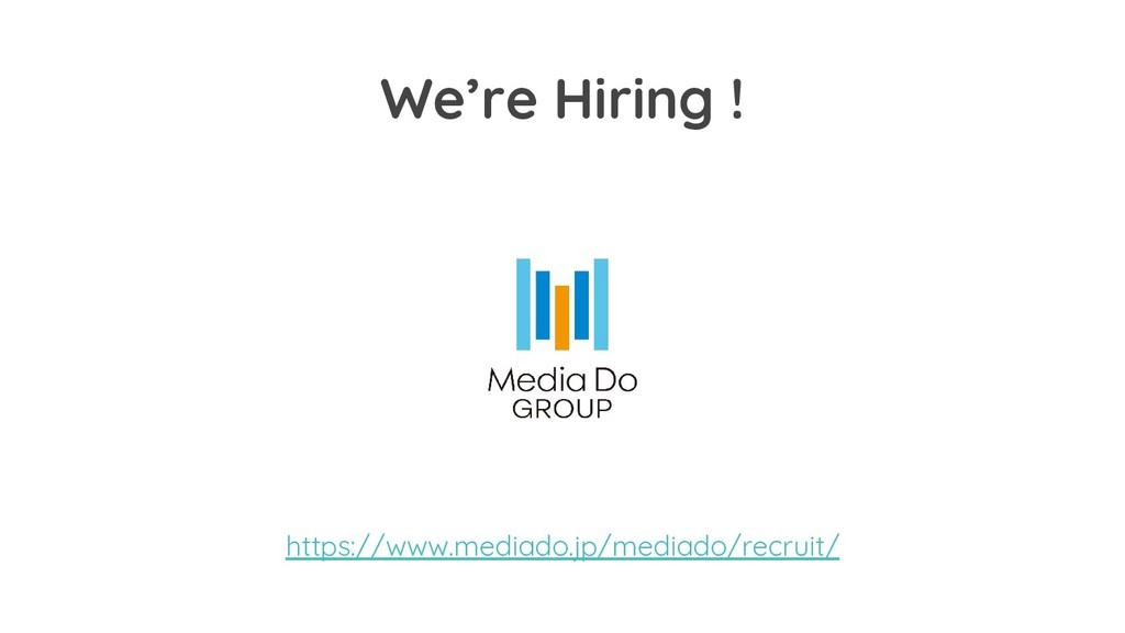We're Hiring ! https://www.mediado.jp/mediado/r...