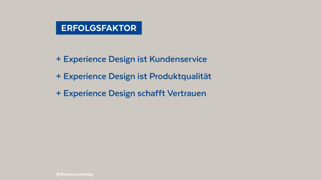 @BennoLoewenberg ERFOLGSFAKTOR + Experience D...