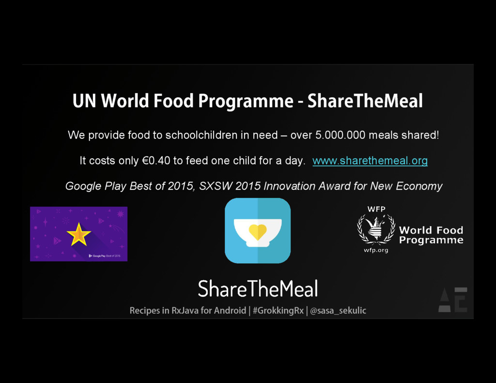 UN World Food Programme - ShareTheMeal We provi...