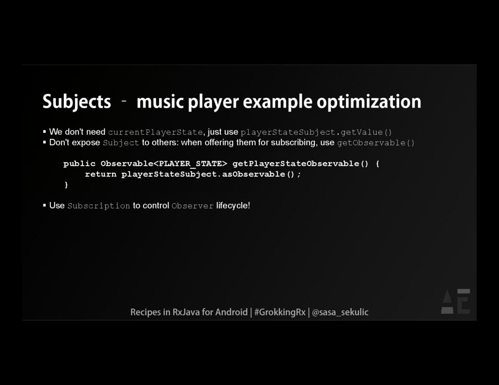 Subjects – music player example optimization  ...
