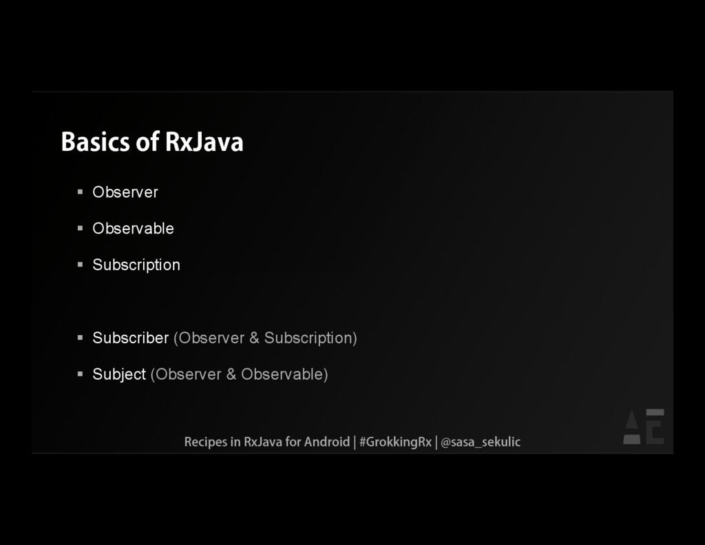 Basics of RxJava  Observer  Observable  Subs...
