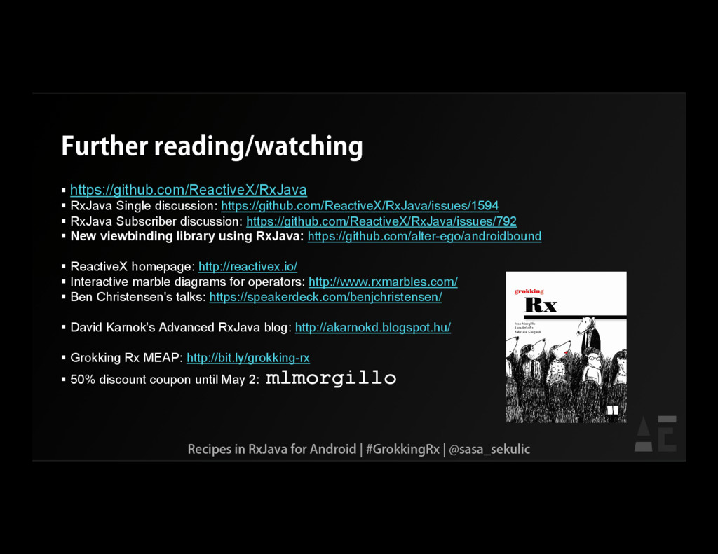 Further reading/watching  https://github.com/R...