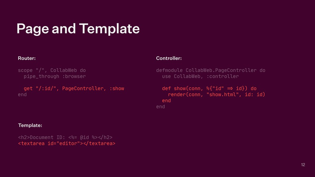 """Page and Template Router:   scope """"/"""", CollabWe..."""