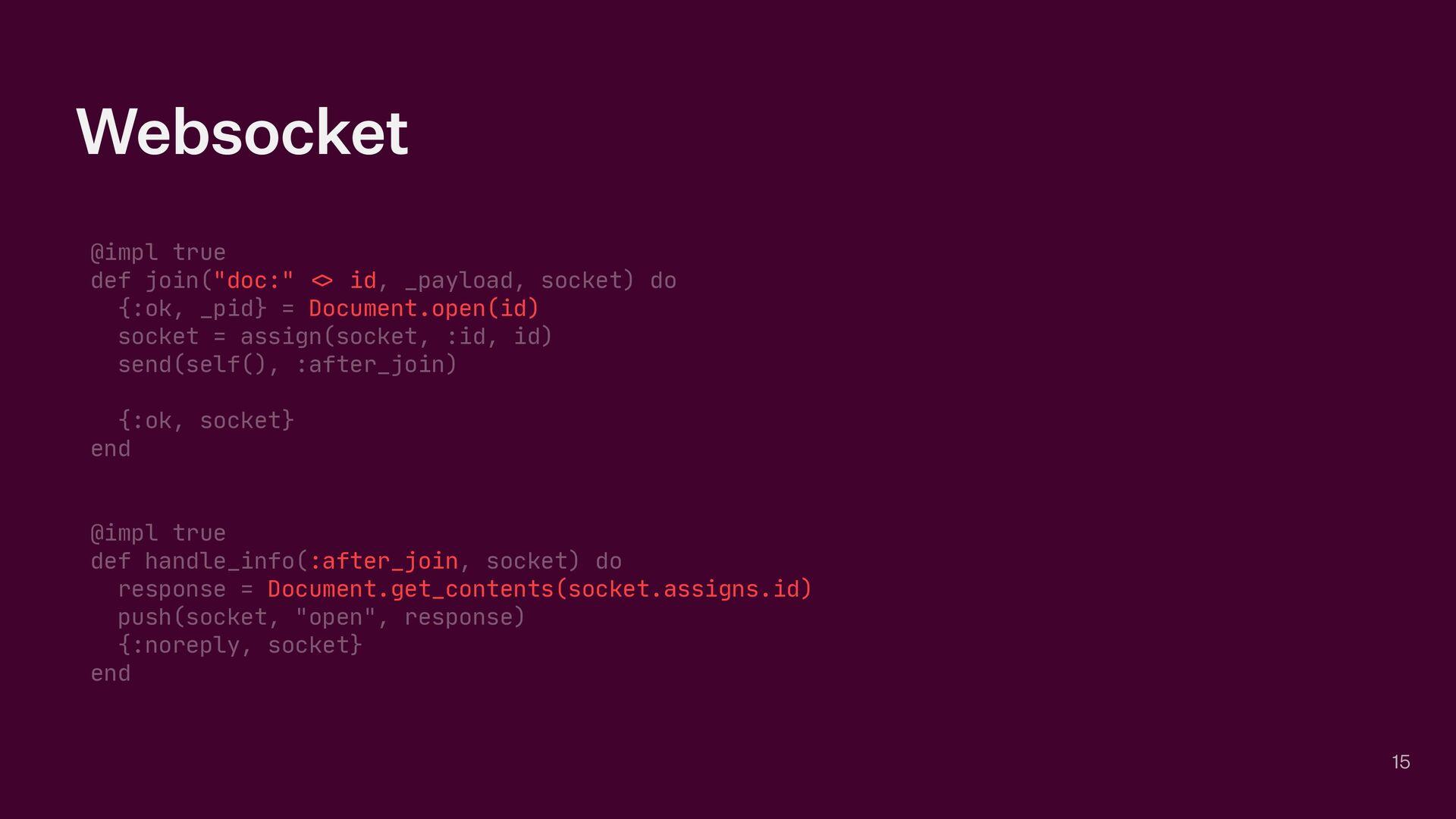 "Websocket @impl true  def join(""doc:"" <> id, _p..."