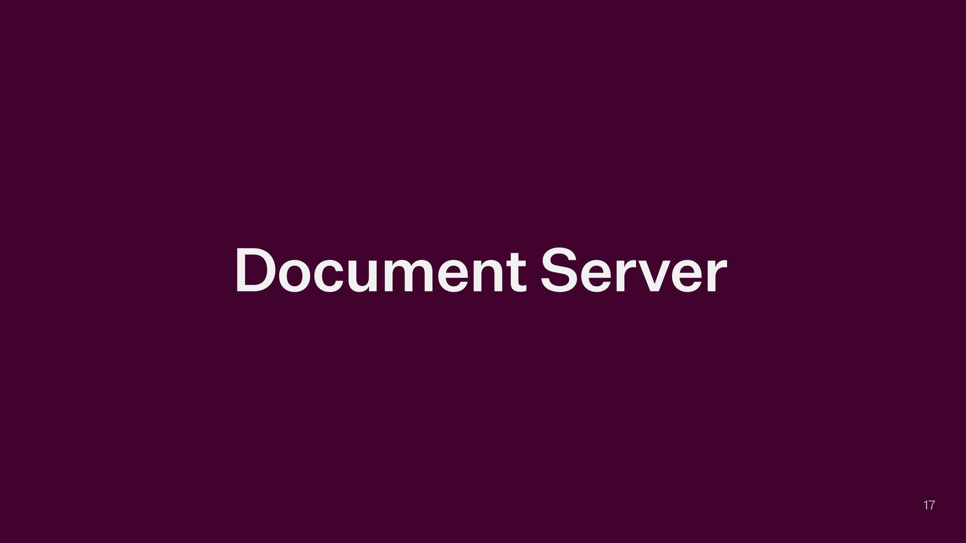 Document Server 17