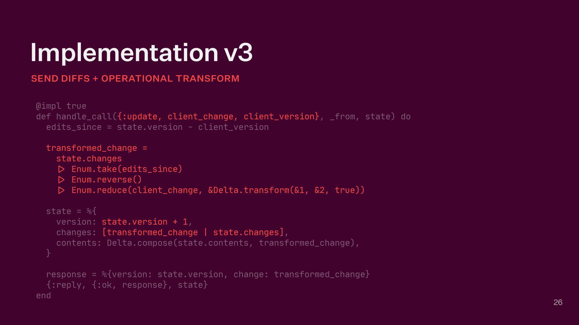 Implementation v3 SEND DIFFS + OPERATIONAL TRAN...