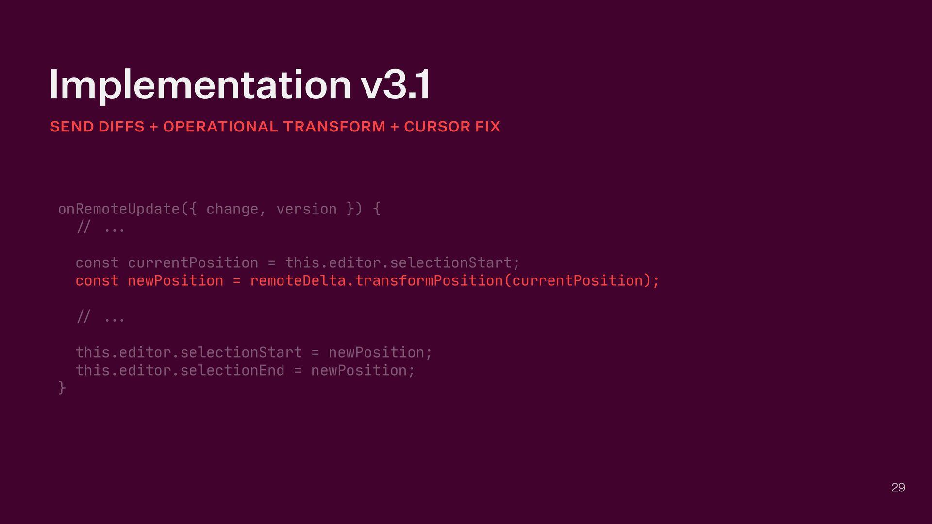Implementation v3.1 29 SEND DIFFS + OPERATIONAL...