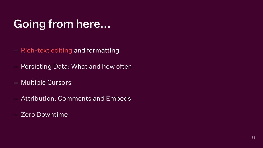 Going from here... – Rich-text editing and form...