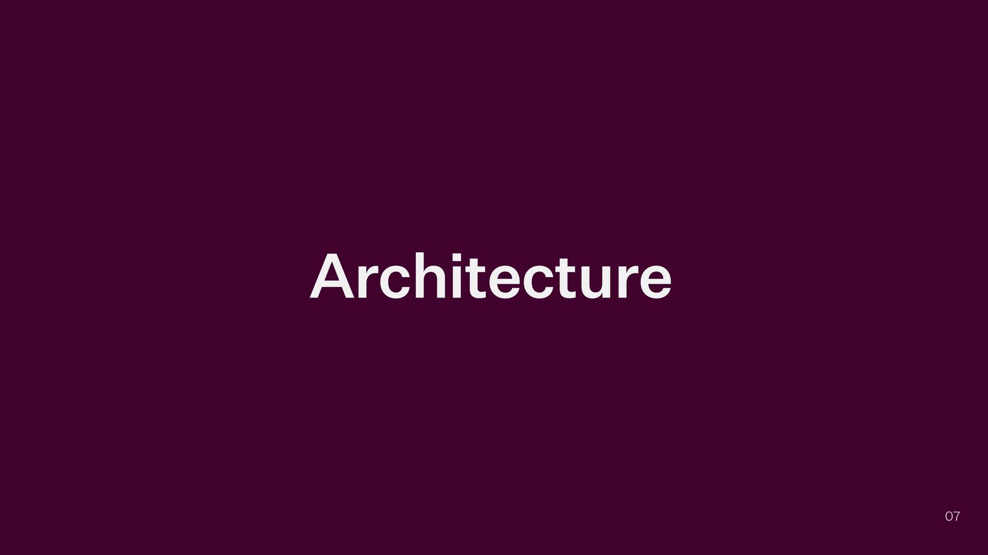 Architecture 07