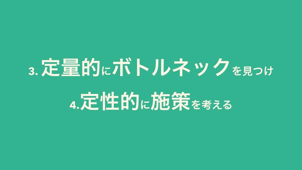 3. ఆྔతʹ ϘτϧωοΫΛݟ͚ͭ 4. ఆੑతʹ ࢪࡦΛߟ͑Δ