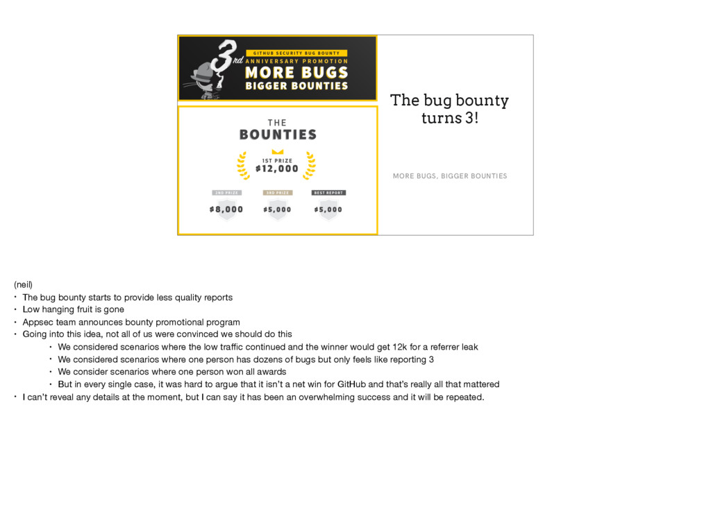 The bug bounty turns 3! MORE BUGS, BIGGER BOUNT...