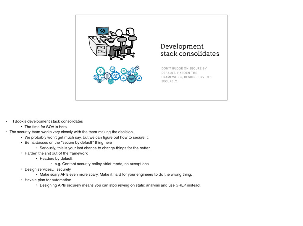 Development stack consolidates DON'T BUDGE ON S...