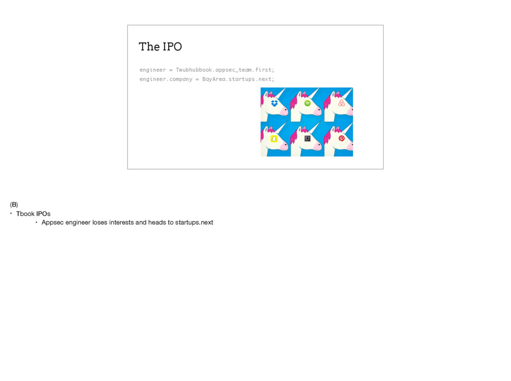 The IPO engineer = Twubhubbook.appsec_team.firs...