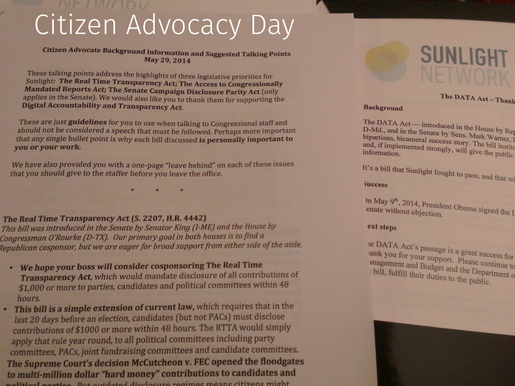 Citizen Advocacy Day