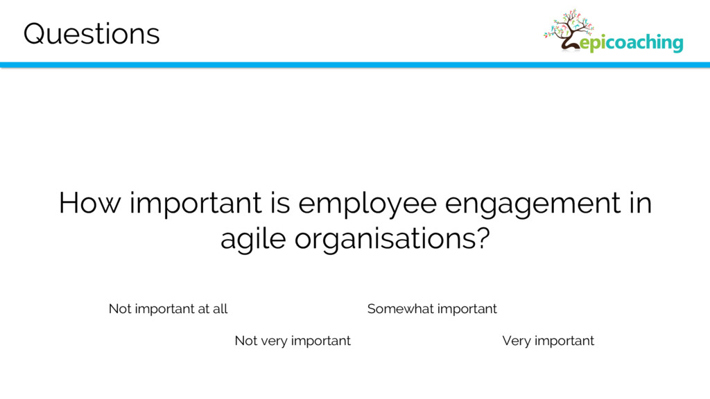Questions How important is employee engagement ...