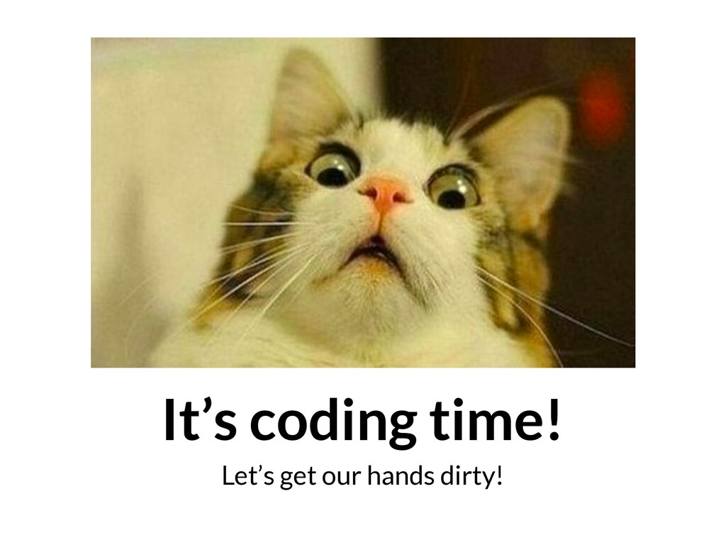 It's coding time! Let's get our hands dirty!