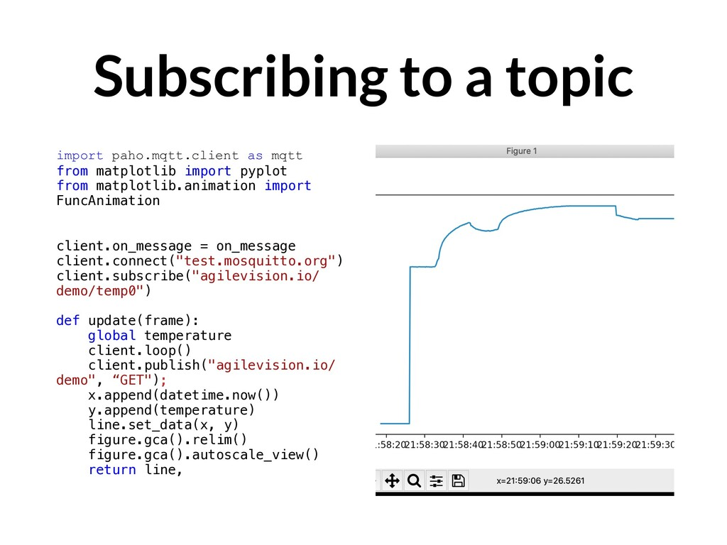 Subscribing to a topic import paho.mqtt.client ...