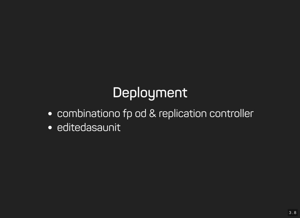 3 . 8 Deployment combination of pod & replicati...