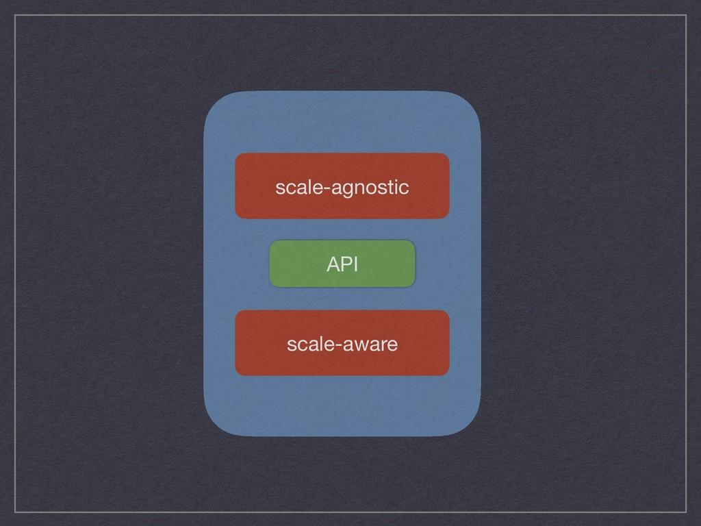 scale-agnostic scale-aware API