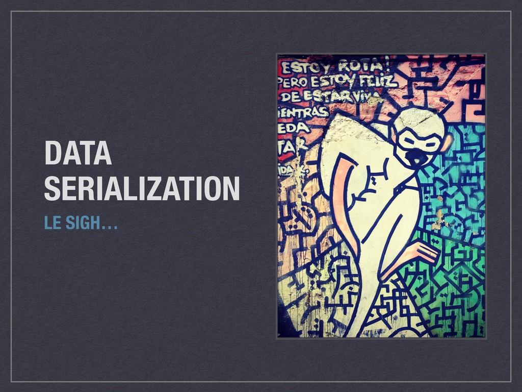 DATA SERIALIZATION LE SIGH…