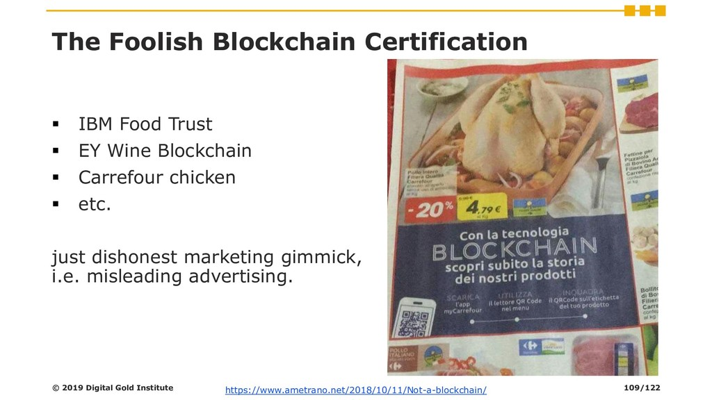 The Foolish Blockchain Certification ▪ IBM Food...