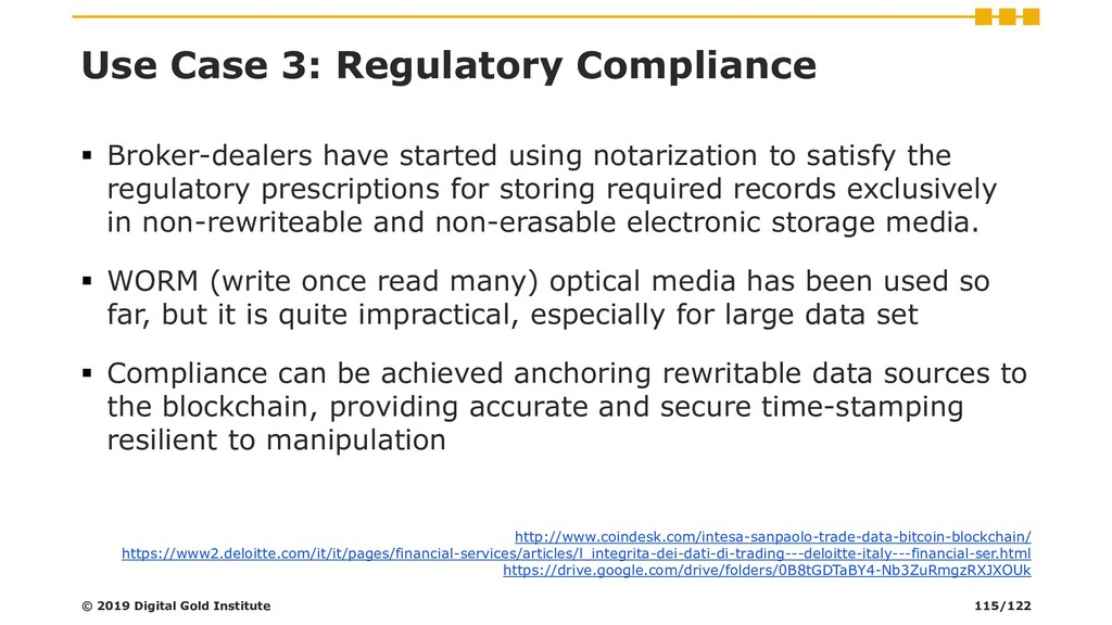 Use Case 3: Regulatory Compliance ▪ Broker-deal...