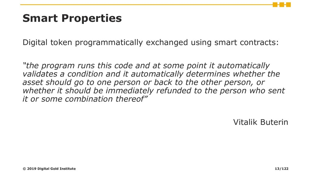 Smart Properties Digital token programmatically...