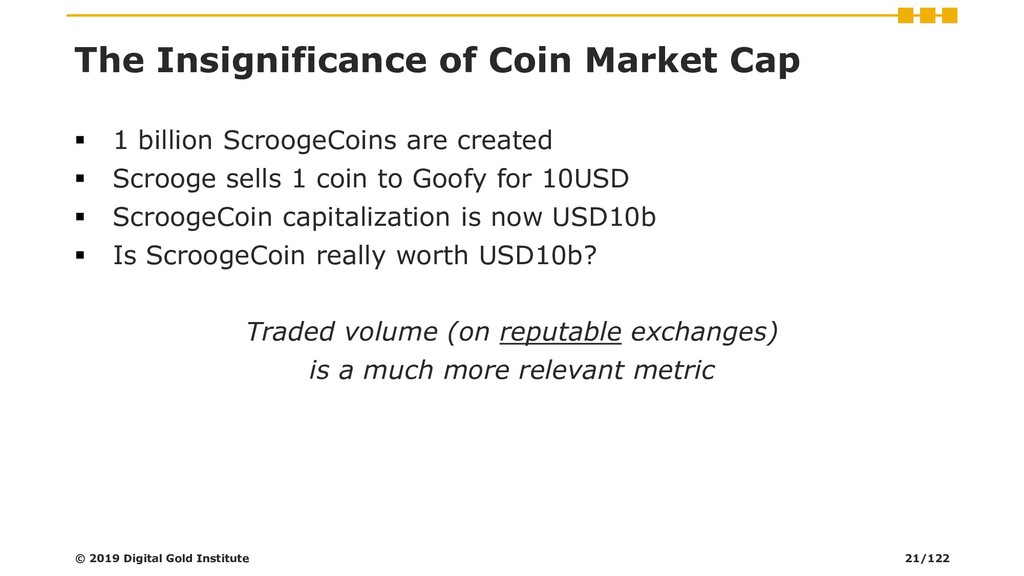 The Insignificance of Coin Market Cap ▪ 1 billi...