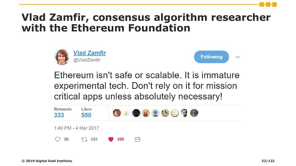 Vlad Zamfir, consensus algorithm researcher wit...