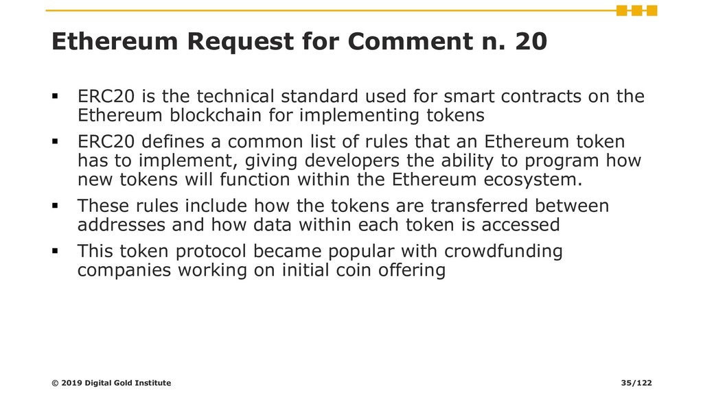 Ethereum Request for Comment n. 20 ▪ ERC20 is t...
