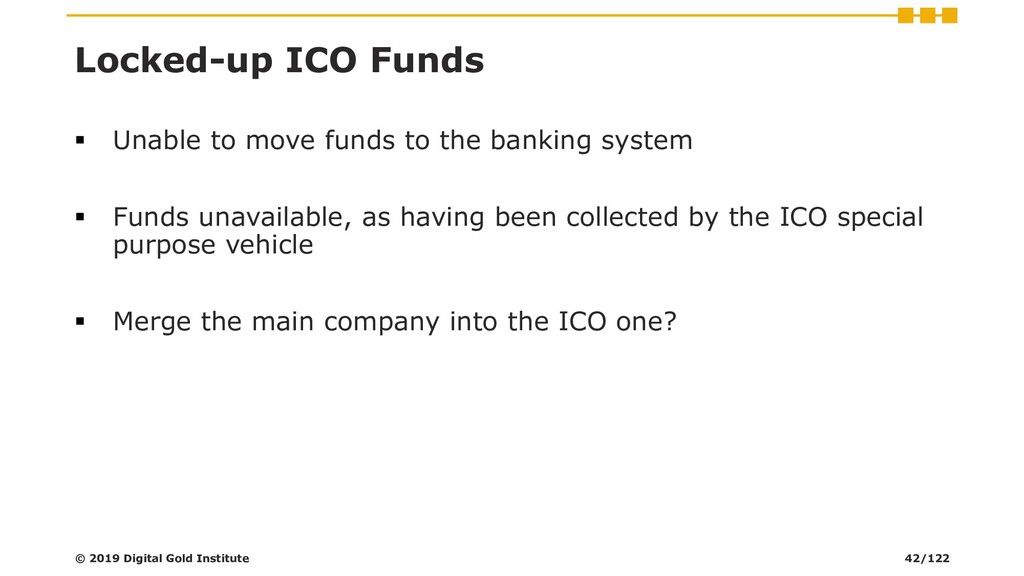 Locked-up ICO Funds ▪ Unable to move funds to t...