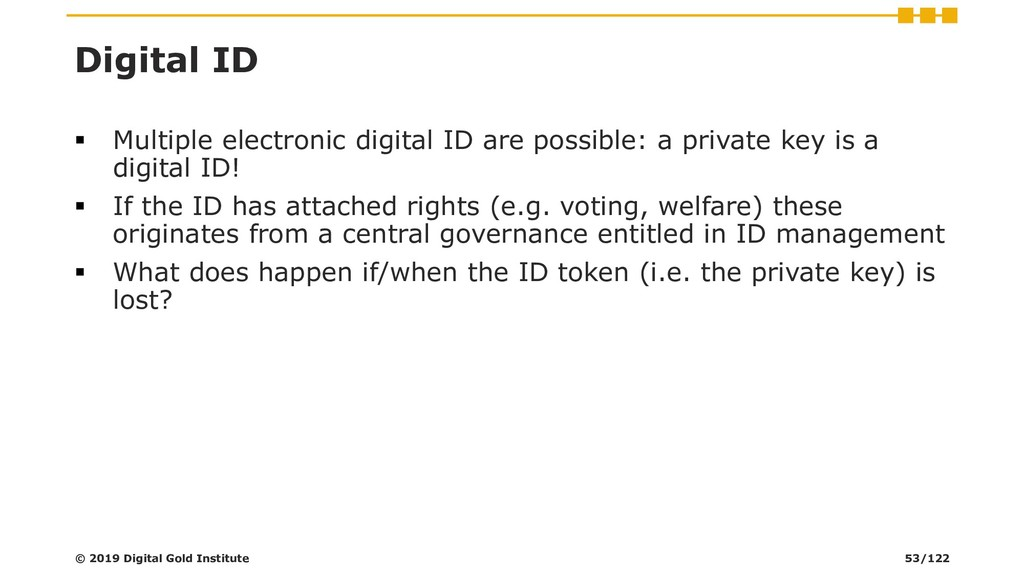 Digital ID ▪ Multiple electronic digital ID are...
