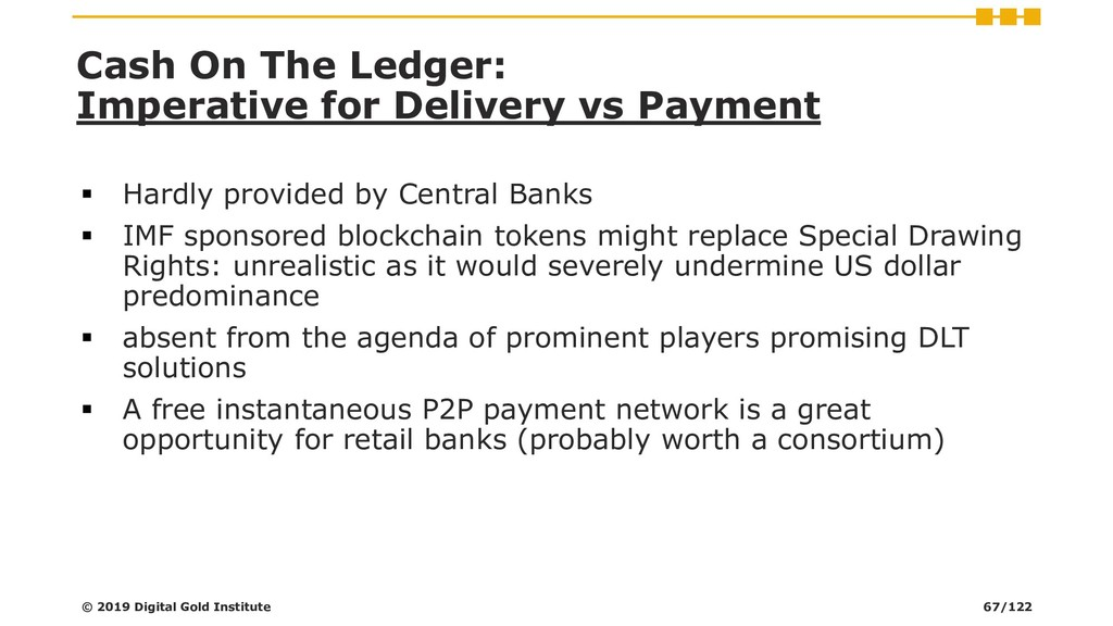 Cash On The Ledger: Imperative for Delivery vs ...