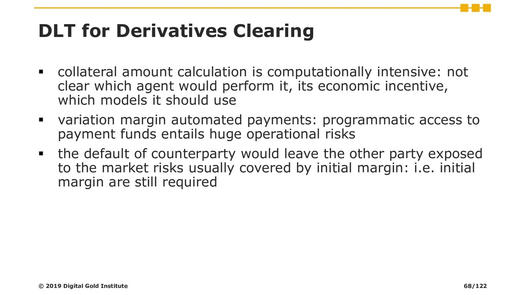 DLT for Derivatives Clearing ▪ collateral amoun...