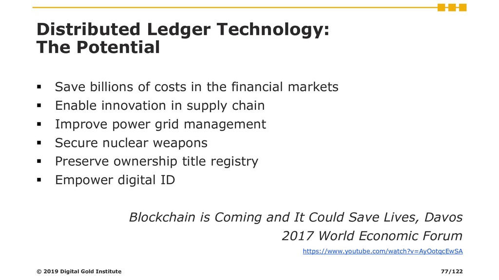 Distributed Ledger Technology: The Potential ▪ ...