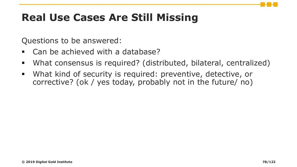 Real Use Cases Are Still Missing Questions to b...