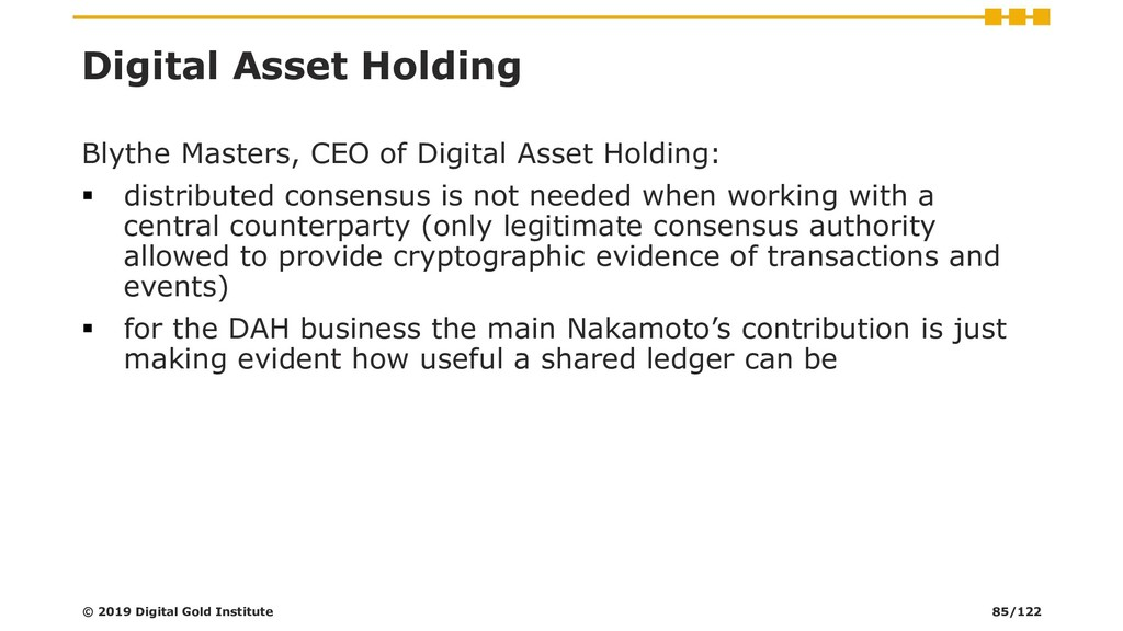 Digital Asset Holding Blythe Masters, CEO of Di...