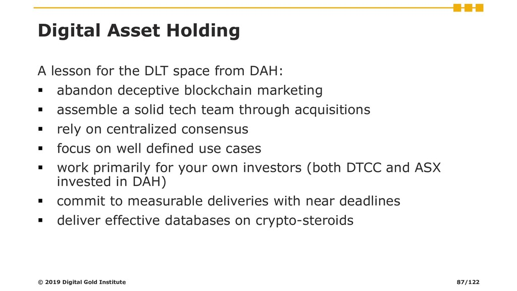 Digital Asset Holding A lesson for the DLT spac...