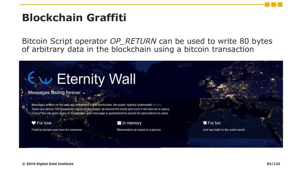 Blockchain Graffiti © 2019 Digital Gold Institu...
