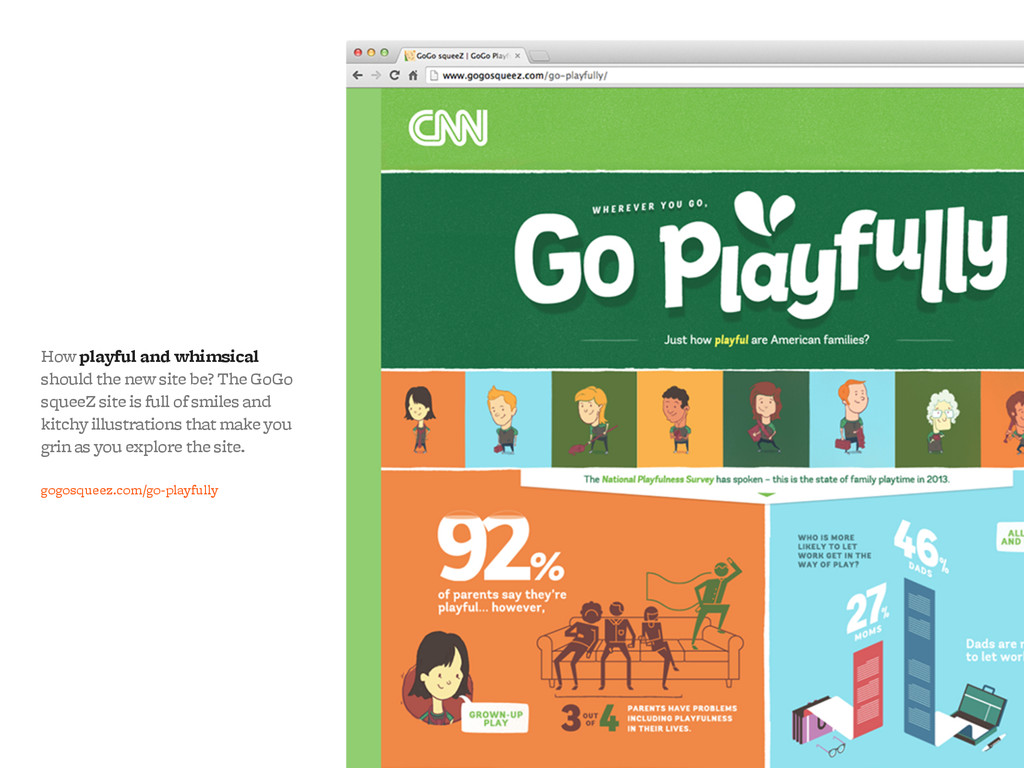 How playful and whimsical should the new site b...
