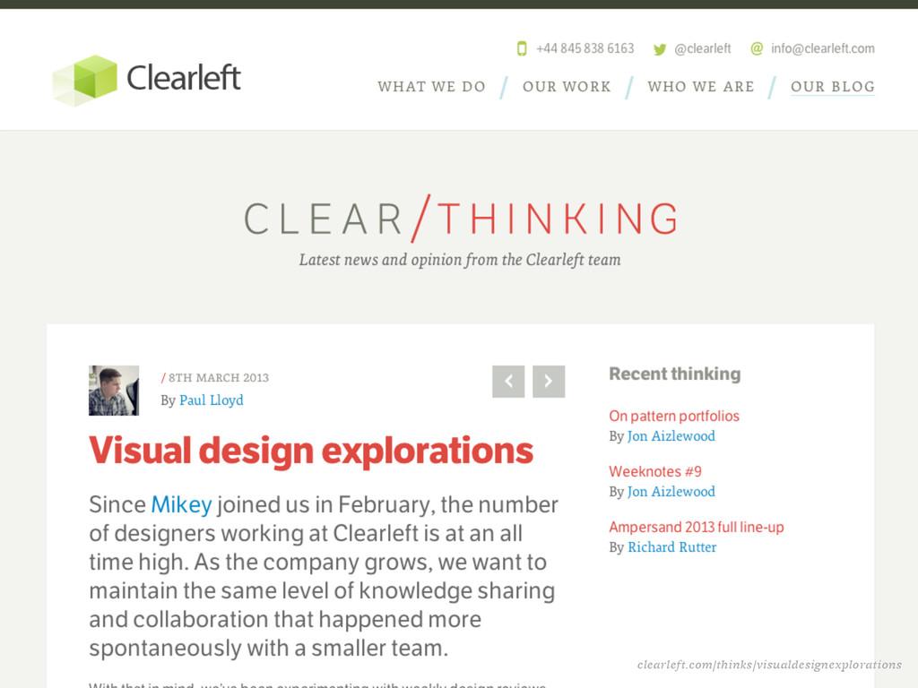 clearleft.com/thinks/visualdesignexplorations