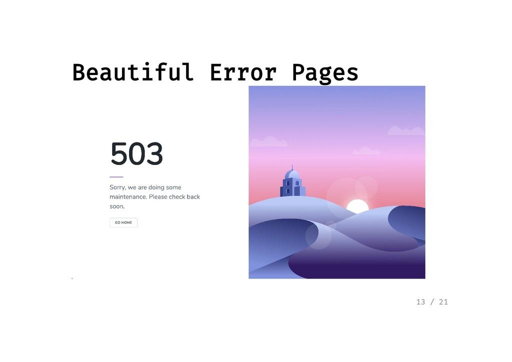 Beautiful Error Pages Beautiful Error Pages 13 ...