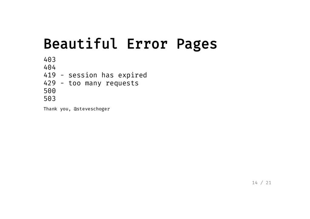 Beautiful Error Pages Beautiful Error Pages 403...