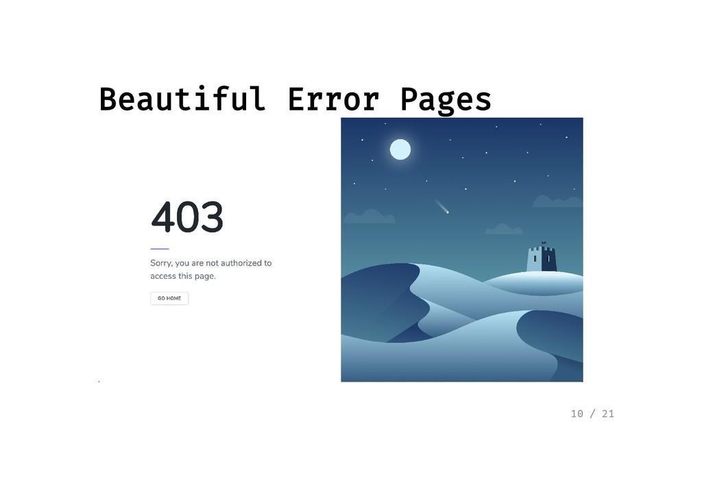 Beautiful Error Pages Beautiful Error Pages 10 ...