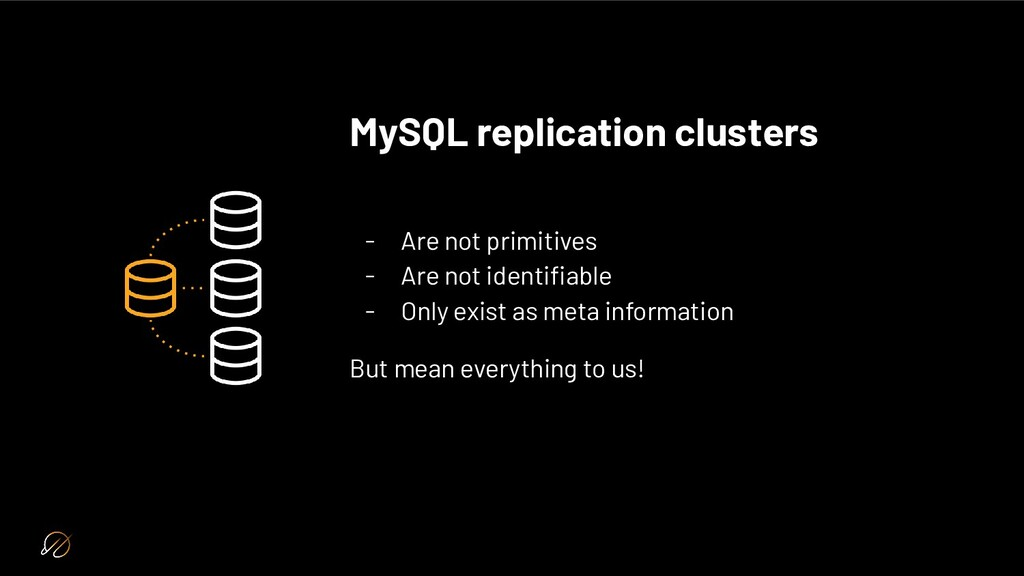 MySQL replication clusters - Are not primitives...