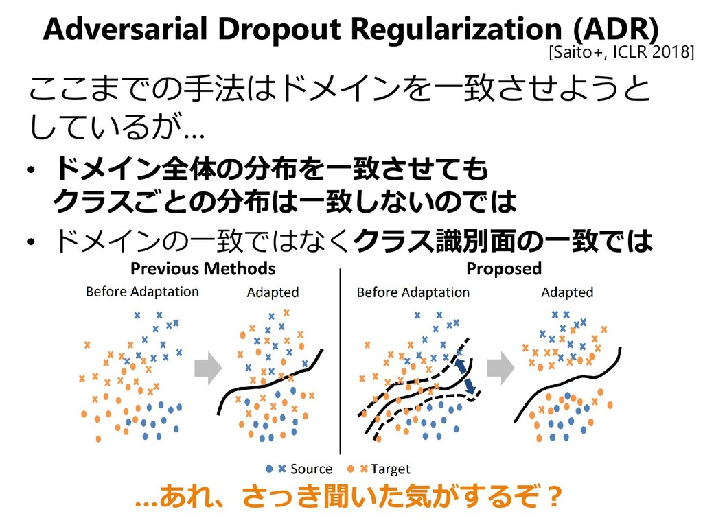 Adversarial Dropout Regularization (ADR) ここまでの手...